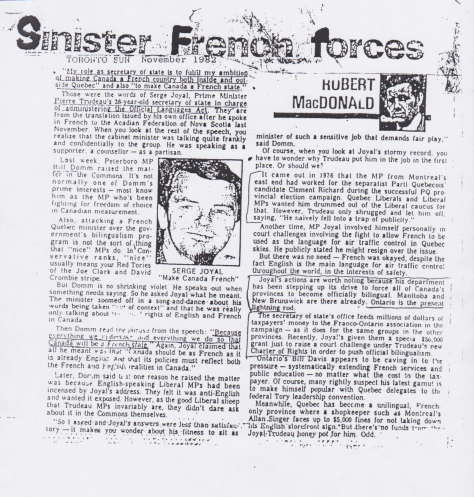 Sinister French forces