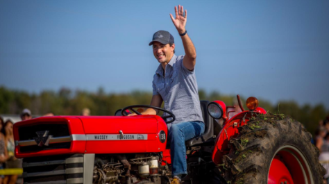 Trudeau on Tractor